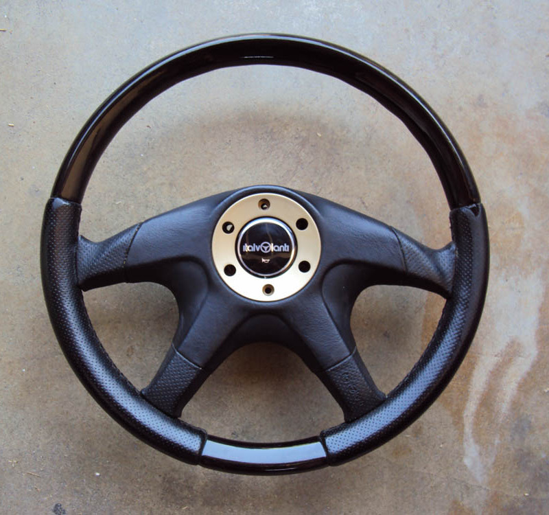 Italvolanti Wood Leather Steering Wheel 01