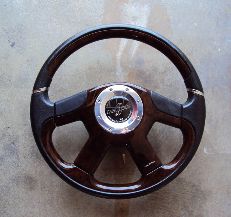 Fabulous Noble Rose Brown Steering Wheel 360mm 01