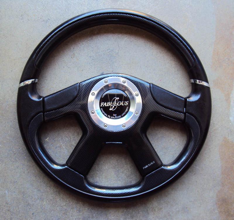 Fabulous Noble Carbon Fiber Steering Wheel 360mm 01