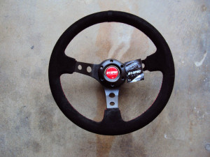 D1 Spec Deep70 Suede Deep Cone Steering Wheel