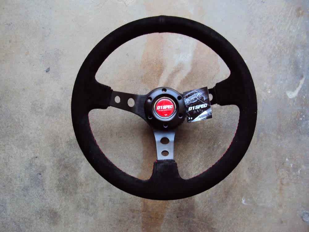 D1 Spec Deep70 Suede Deep Cone Steering Wheel
