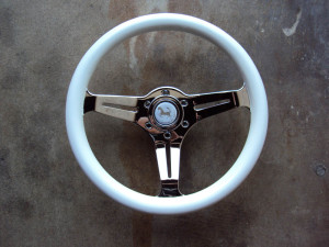 HKB Sports White Steering Wheel