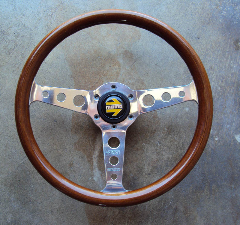 MOMO Super Indy Wood Steering Wheel 345mm 01