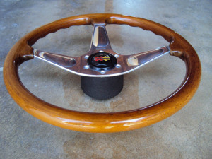 MOMO Teardrop Wood Grain Steering Wheel 365mm