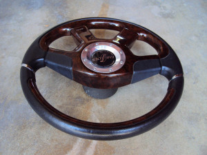 Fabulous Noble Rose Brown Steering Wheel 360mm