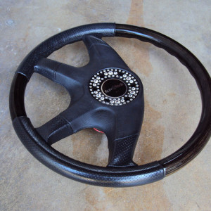 Italvolanti Garson Swarovski Crystal Ring Steering Wheel 09