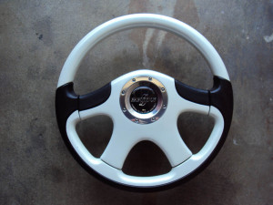 FABULOUS Luxury II Steering Wheel Pearl White 360mm