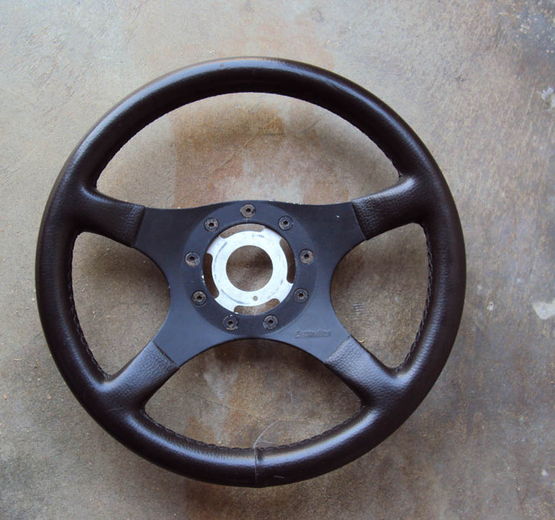 Formuling France Steering Wheel Brown Leather 01