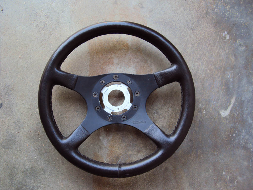 Formuling France Steering Wheel Brown Leather