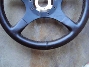 Formuling France Steering Wheel Brown Leather