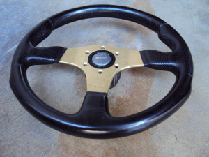 MOMO Race Anodized Gold Steering Wheel