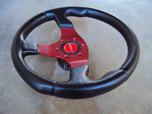 MOMO Race Anodized Red Steering Wheel