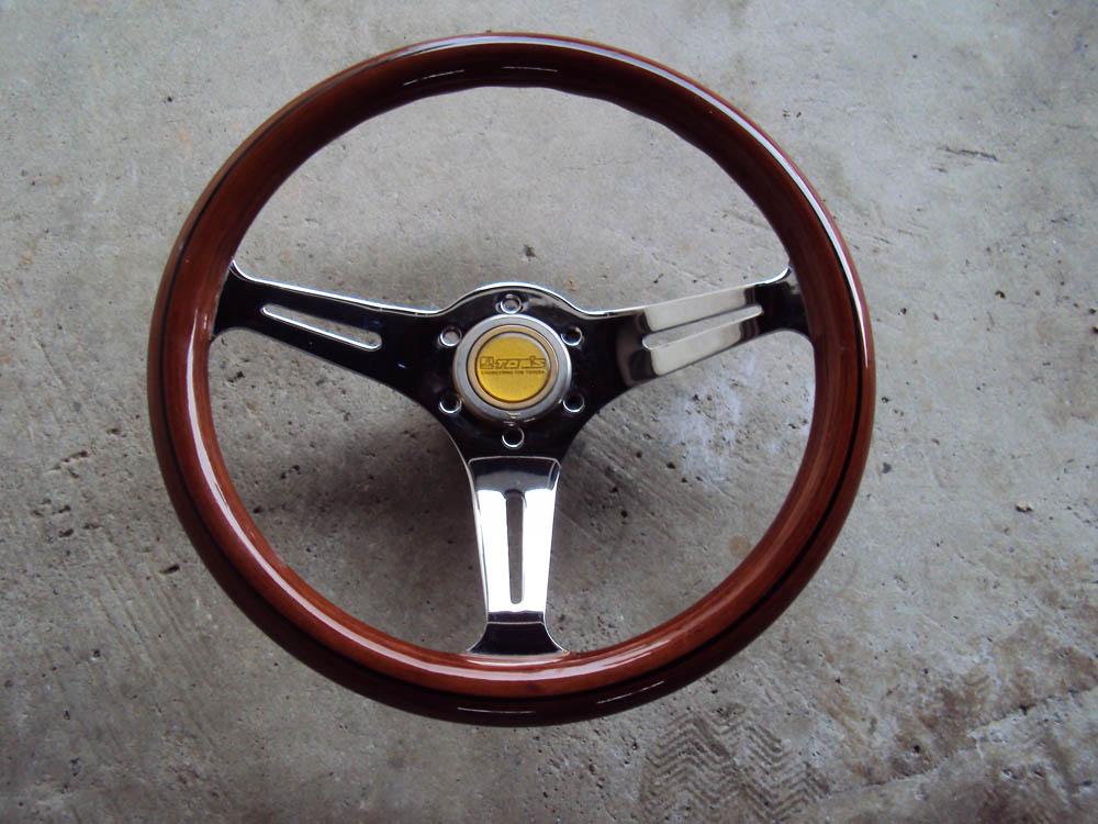 HKB TOM'S Woodgrain Chrome Steering Wheel 350mm
