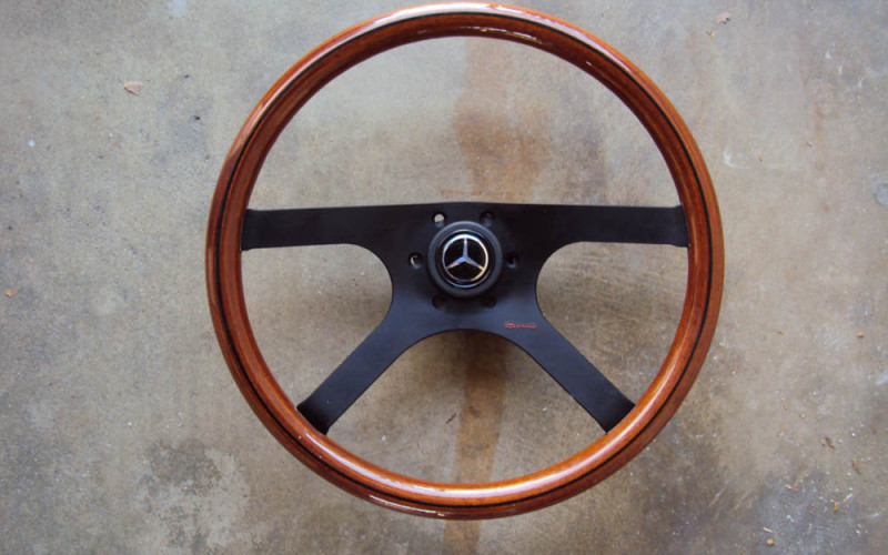 Raid Dino Wood Steering Wheel Mercdes Benz 385mm